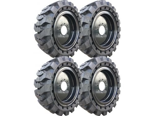 Black Traction Skidsteer Tire and Wheel Assembly - Free Freight!