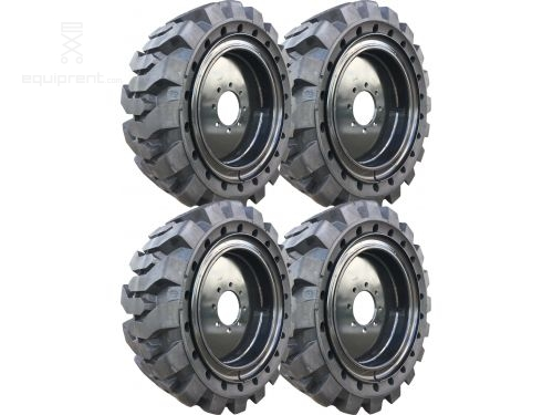 33x12x20 (12-16.5) Black Traction Skidsteer Tire and Wheel Assembly (Sold in Sets of 4)