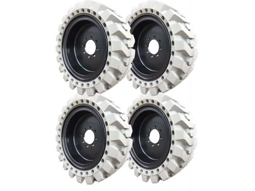 Grey Non-Marking Traction Skidsteer Tire & Wheel Assembly - Free Freight!