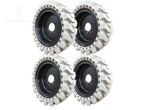 33x12x20 (12-16.5) Grey Non-Marking Traction Skidsteer Tire & Wheel Assembly (Sold in Sets of 4)