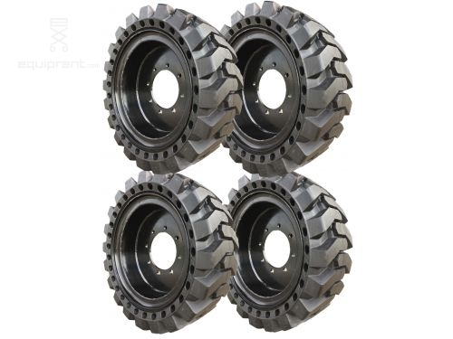 33x12x20 (12-16.5) Black Traction Skidsteer Tire & Wheel Assembly for Genie 5519 (Sold in Sets of 4)