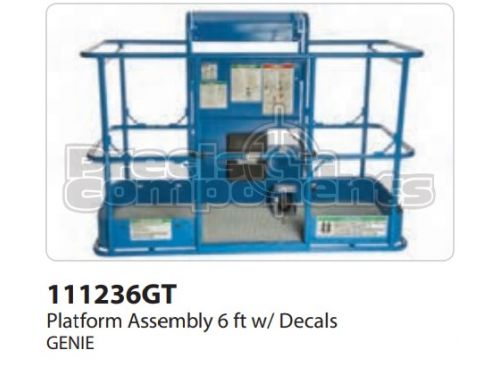 Genie Platform Assembly 6 Ft. with Decals ANSI - Part Number 111236