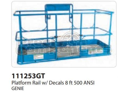 Genie Plat Rail w/Decals 8FT 500 ANSI, Part 111253