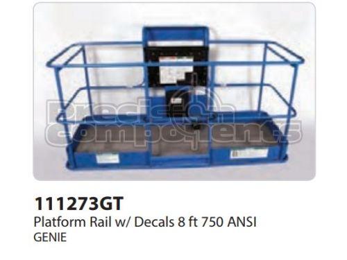 Genie Platform Rail Assy, 8Ft, ANSI, Part 111273