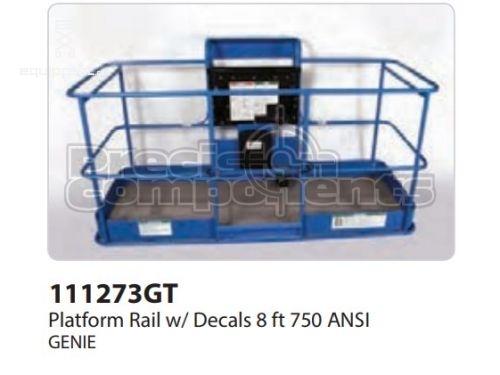 Genie Platform Rail Assy, 8Ft, ANSI, Part #111273