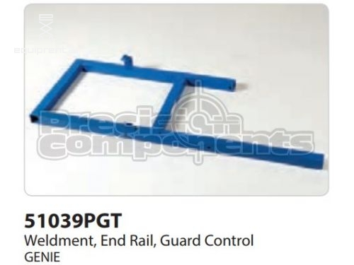 Genie Weldment, End Rail, Grd. Controls, Part #51039P