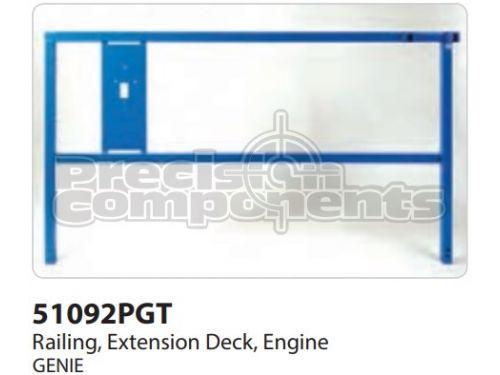 Genie Railing, Ext Deck, Engine Side, Part 51092P