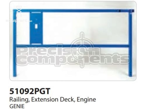 Genie Railing, Ext Deck, Engine Side, Part #51092P