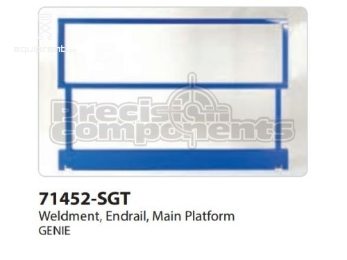 Genie Weldment, Endrail, Main Plat, Part #71452-S