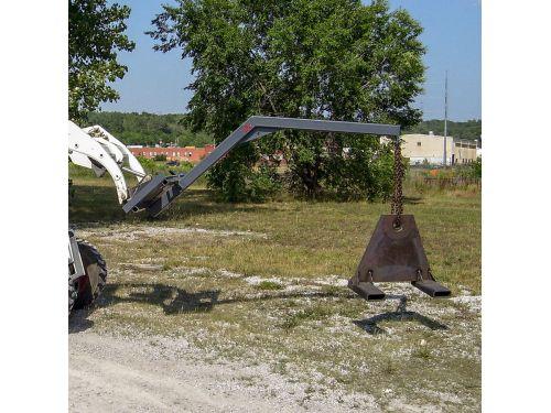 Rigid Jib Boom Fork Attachment - 3750 lbs Capacity with 6' Reach