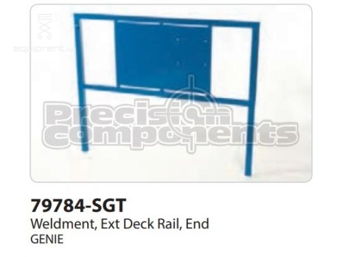 Genie Weldment, Ext Deck Rail, End, Part #79784-S