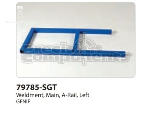 Genie Weldment, Main, A-Rail, Left, Part #79785-S