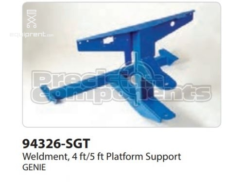 Genie Weldment, 4/5FT Platform Support, Part #94326-S