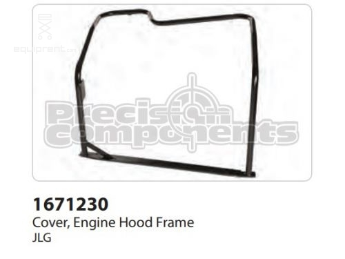 JLG Cover, Engine Hood Frame, Part #1671230