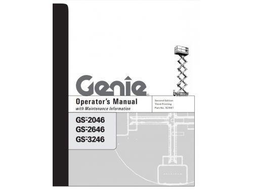 Buy 2004 Genie Operator's Manual: GS2668 DC and GS3268 DC Scissor