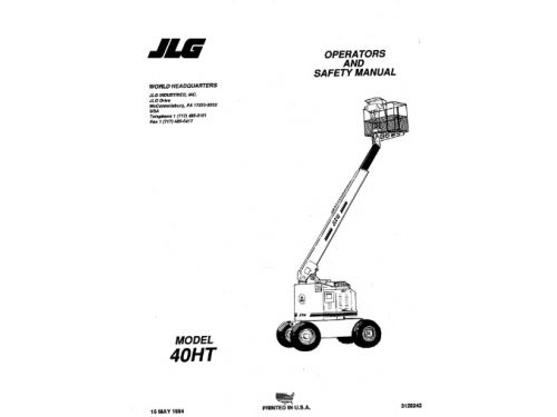 Buy 1999 JLG Operators and Safety Manual (CE): 120HX (P/N