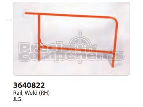 JLG Rail, Weld (RH), Part #3640822