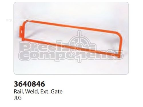 JLG Rail, Weld, Ext Gate, Part #3640846