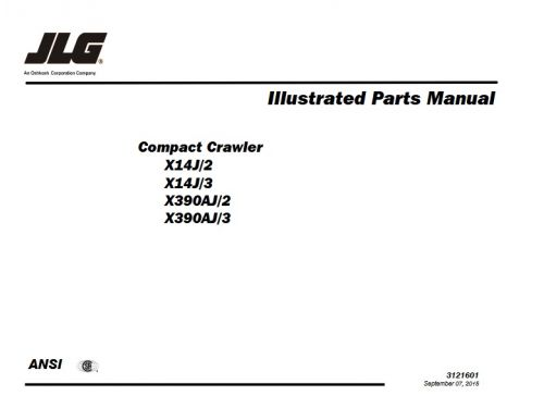 Buy 2016 JLG Electrical Schematic Manual: X17JP - X500AJ and ... Jlg Wiring Schematic on
