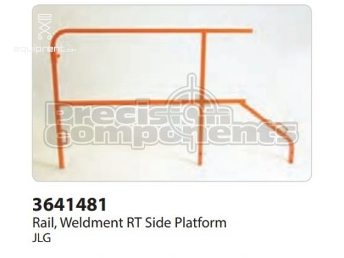 JLG Rail, Weldment Rt Side Platform, Part #3641481