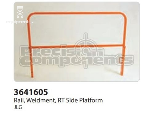 JLG Rail, Weldment, RT Side Platform, Part #3641605