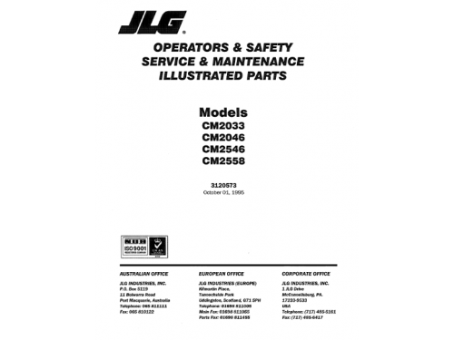 Buy 2018 JLG Illustrated Parts Manual: 4045R (P/N 3121753