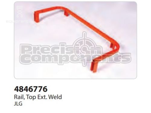 JLG Weld, Top EXt Rail 2646 NAU, Part #4846776