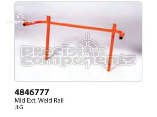 JLG Weld, Mid Ext Rail 2646 NAU, Part #4846777
