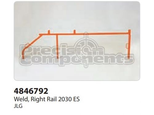 JLG Weldment, Right Rail 2030 ES - Part Number 4846792
