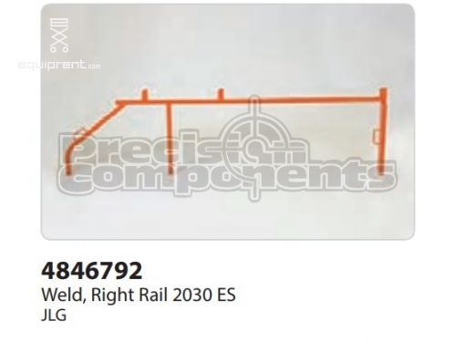 JLG Weld, Right Rail 2030 ES, Part #4846792