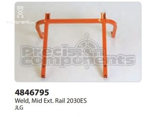 JLG Weld, Mid Ext. Rail 2030ES, Part #4846795
