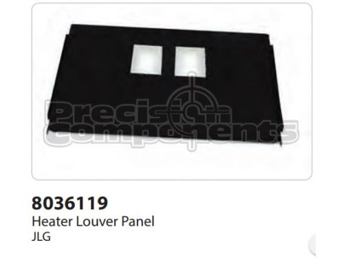 JLG Panel, Heater Louver - Part Number 8036119