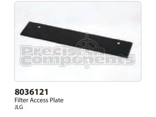 JLG Plate, Filter Access - Part Number 8036121