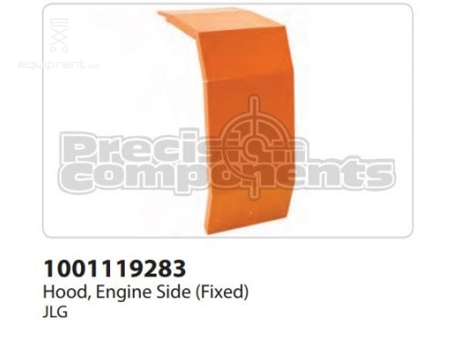JLG Hood, Engine Side (Fixed), Part #1001119283