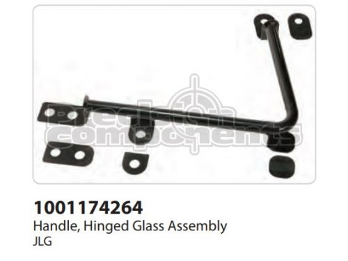 JLG Handle, Hinged Glass Assembly - Part Number 1001174264