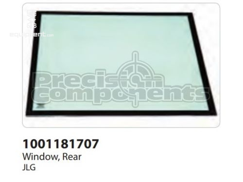 JLG Window, Rear, Part #1001181707