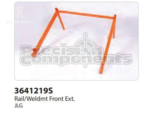 JLG Rail, Weld Front Ext, Part #3641219S