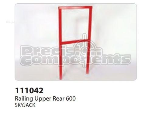 SkyJack Railing Upper Rear 600, Part #111042