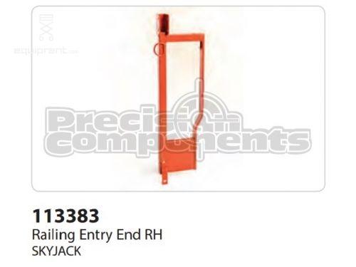 SkyJack Railing Entry End RH, Part #113383