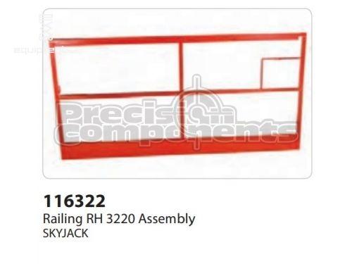 SkyJack Railing RH 3220 Assembly, Part #116322