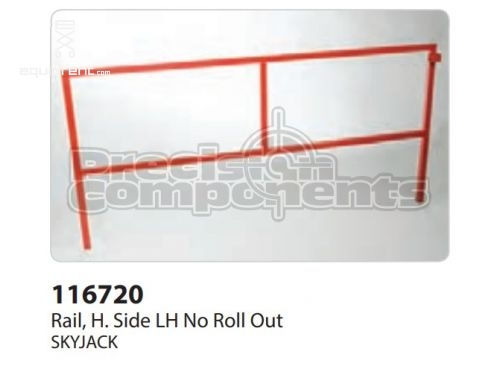SkyJack Rail, H. Side LH No Roll Out, Part #116720