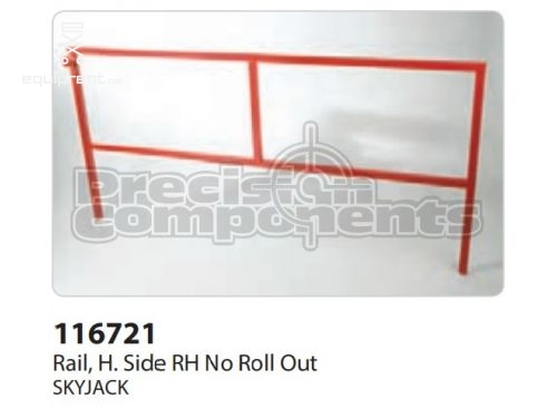 SkyJack Rail, H. Side RH No Roll Out, Part #116721