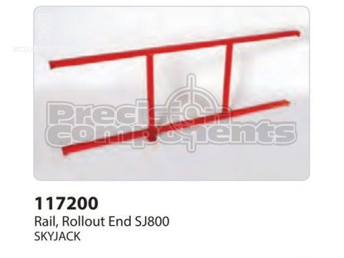 SkyJack Rail, Rollout End SJ800, Part #117200