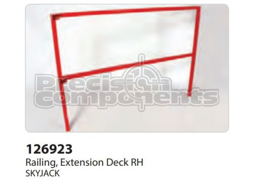 SkyJack Railing, Extension Deck RH, Part 126923
