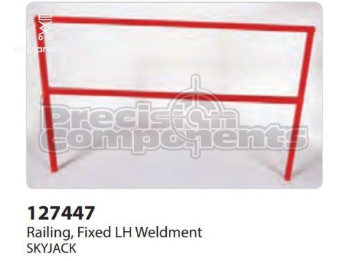 SkyJack Railing, Fixed LH Weldment, Part #127447