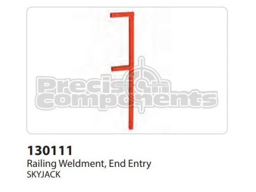 SkyJack Railing Weldment End Entry - Part Number 130111