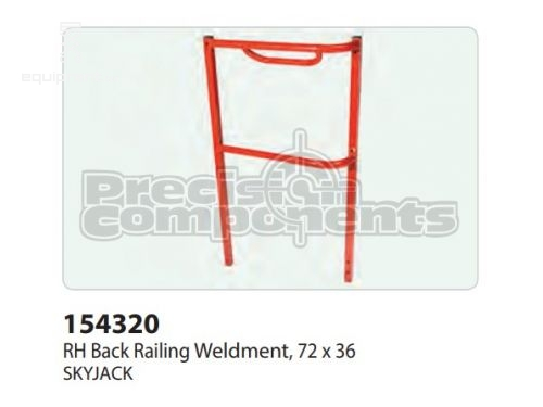 SkyJack RH Back Railing WLDT, 72x36, Part #154320