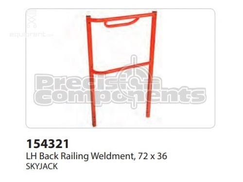 SkyJack LH Back Railing WLDT, 72x36, Part #154321