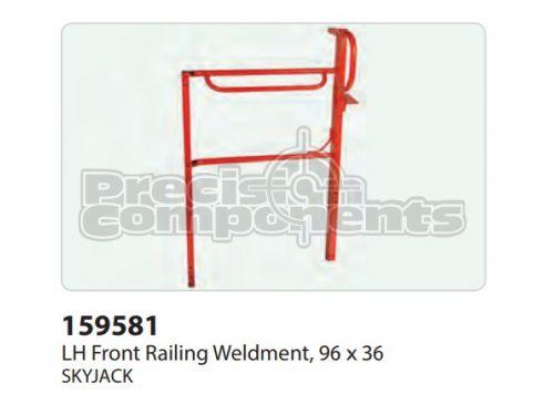 SkyJack LH Front Railing Weldment (96 x 36) - Part Number 159581