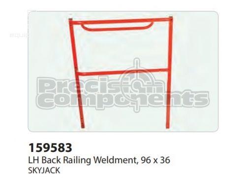 SkyJack LH Back Railing WLDT, 96x36, Part #159583